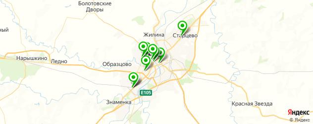 вегетарианские рестораны на карте Орла