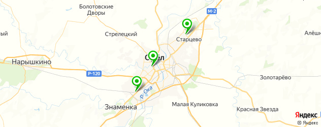 теннисные корты на карте Орла