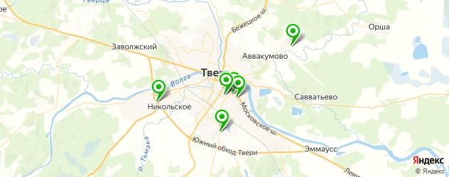 ошиповка шин на карте Твери