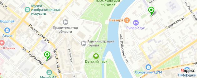 театры на карте Орла