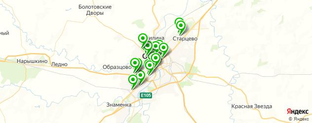 студии загара на карте Орла