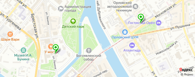 салоны бровей на карте Орла