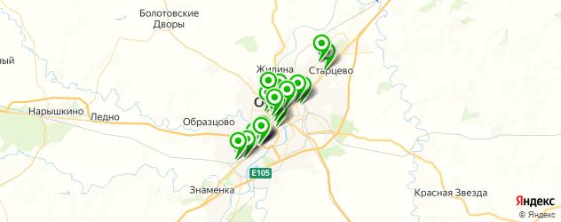 букмекерские конторы на карте Орла