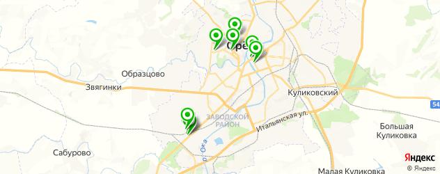 караоке-клубы на карте Орла