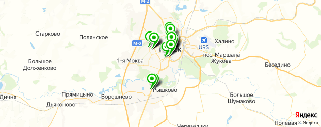 банки на карте Курска