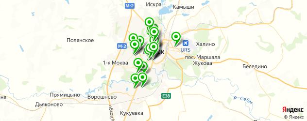 Спорт и фитнес на карте Курска