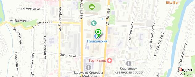 боулинги на карте Курска