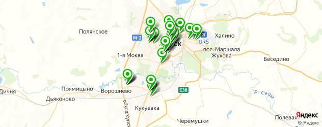 банкоматы на карте Курска