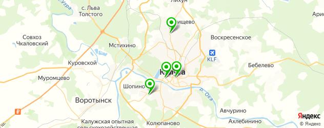 долговременная укладка на карте Калуги