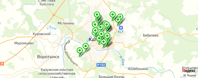автосервисы на карте Калуги