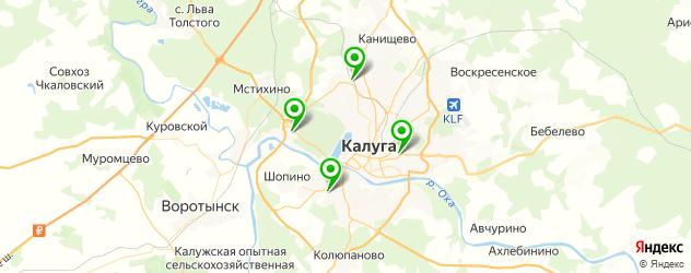гаражи на карте Калуги