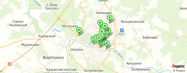 химчистки на карте Калуги