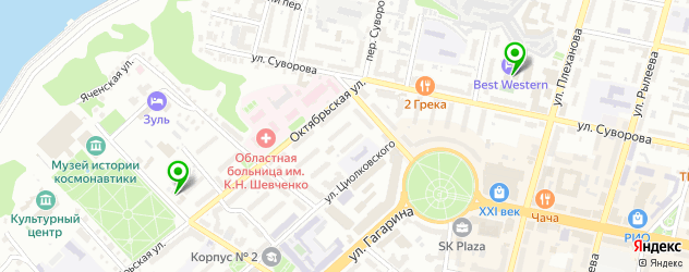 фитнесы с бассейном на карте Калуги