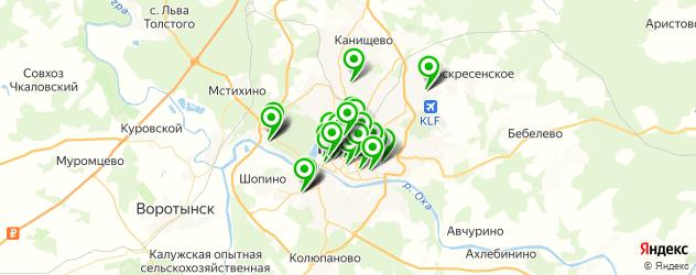 Спорт и фитнес на карте Калуги