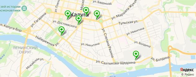 экскурсии на карте Калуги
