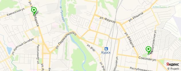 фитнесы с бассейном на карте Курска