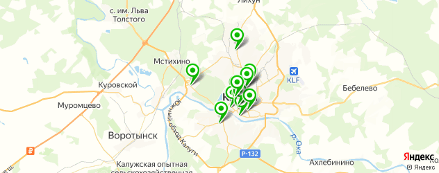 женские фитнес-клубы на карте Калуги