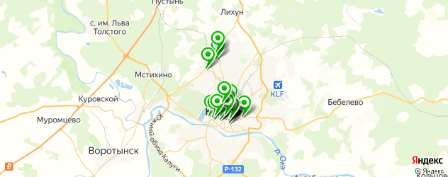 салоны оптики на карте Калуги