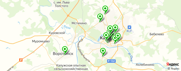 детские развлекательные центры на карте Калуги