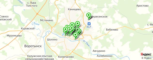 Развлечения на карте Калуги