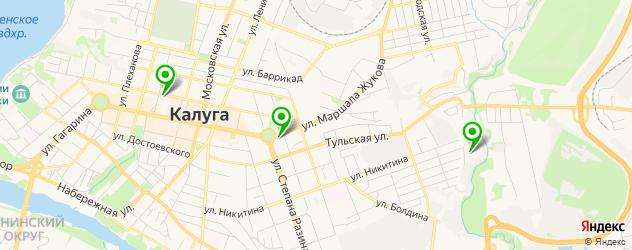 рестораны с детской комнатой на карте Калуги
