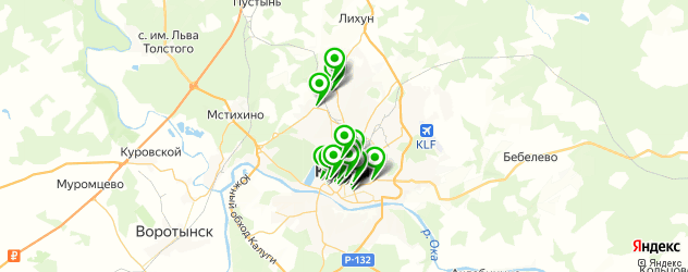 подбор очков на карте Калуги