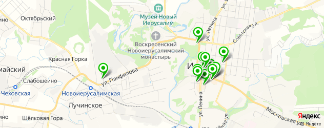 банки на карте Истры