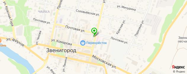 детские библиотеки на карте Звенигорода
