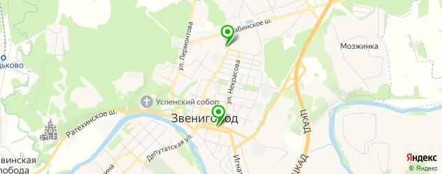 салоны бровей на карте Звенигорода
