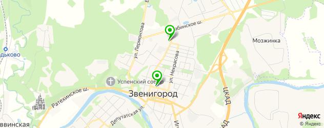 отделения Почты России на карте Звенигорода