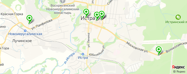 Доставка еды на карте Истры