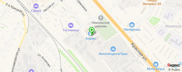 автоуслуги на карте Солнечногорска
