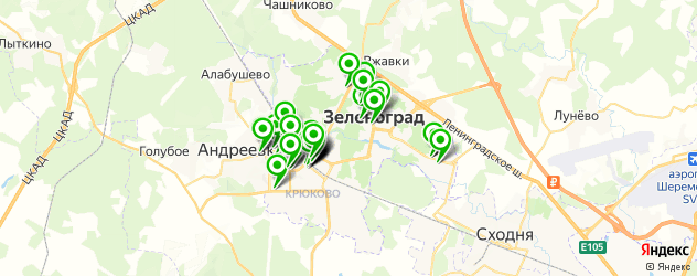 мастерские на карте Зеленограда