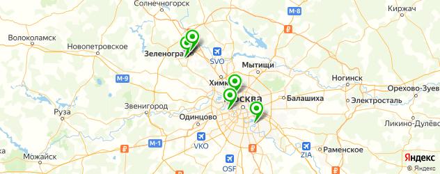 ремонт гитар на карте Москвы