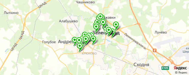 Финансы на карте Зеленограда