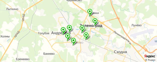 спортивные школы на карте Зеленограда