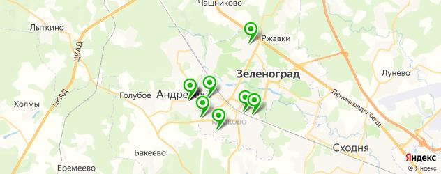 спортивные клубы на карте Зеленограда