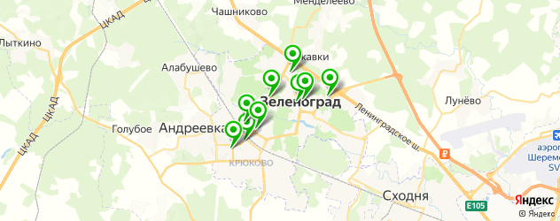 меховые ателье на карте Зеленограда