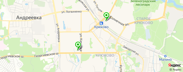 букмекерские конторы на карте Зеленограда