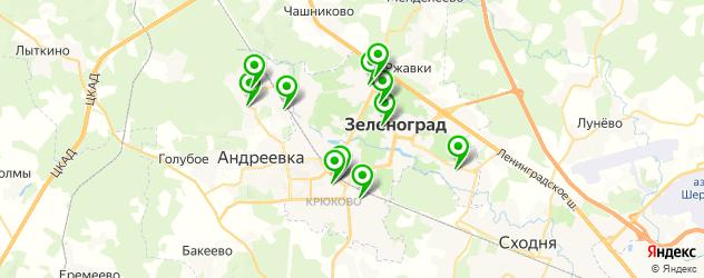 бани на карте Зеленограда