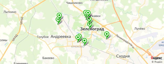 сауны на карте Зеленограда
