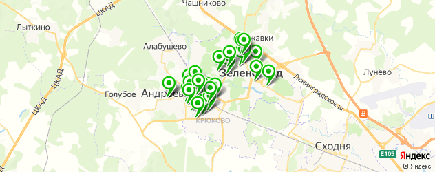 стоматологические клиники на карте Зеленограда
