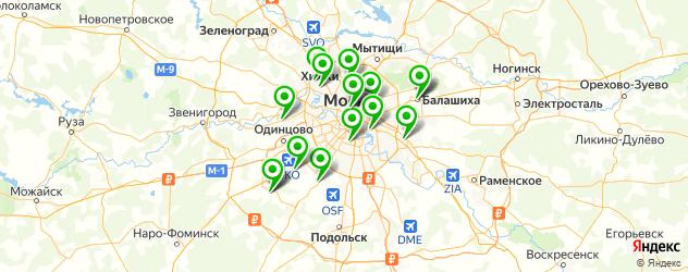 СПА отель на карте Москвы