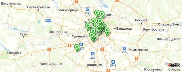 банкоматы на карте Москвы