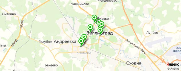 кофейни на карте Зеленограда
