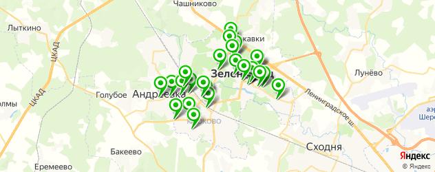 Развлечения на карте Зеленограда