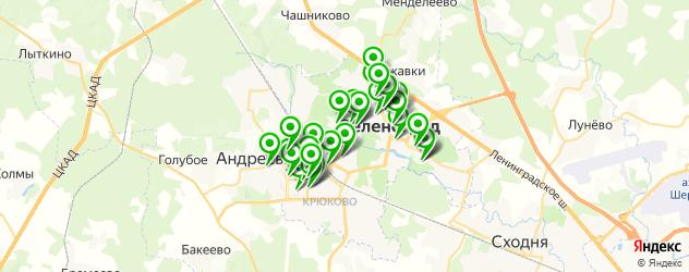 Здоровье на карте Зеленограда