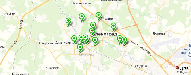 магазины автоаксессуаров на карте Зеленограда