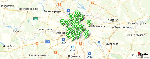 ремонт порогов автомобиля на карте Москвы