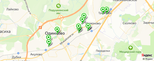 салоны бровей на карте Одинцово